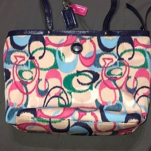 Medium multicolored Coach shoulder bag